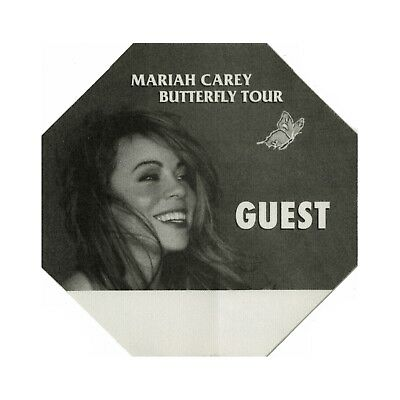 Mariah Carey authentic 1998 Butterfly Tour satin cloth Backstage Pass guest