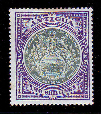 Antigua. Sg 38, 2/- Grey Green & Pale Violet. Mounted Mint.
