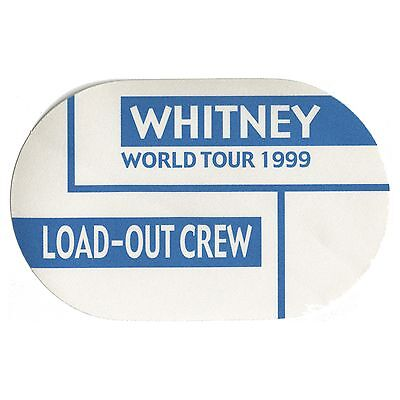 Whitney Houston authentic 1999 My Love is Your Love tour Backstage Pass load out