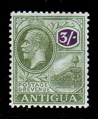 Antigua. Sg 79, 3/- Green & Violet. Mounted Mint.