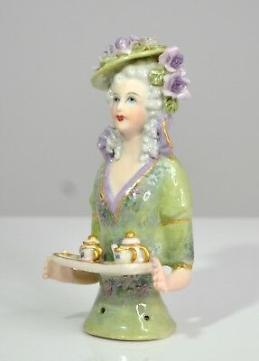 Lady Caroline Tea For One Handmade Porcelain  Half Doll