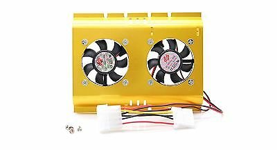 2 x Harddrive fan incl. Screws ALUMINUM #p150
