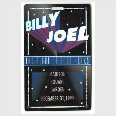 Billy Joel authentic 1999 concert Laminated Backstage Pass Madison Square Garden