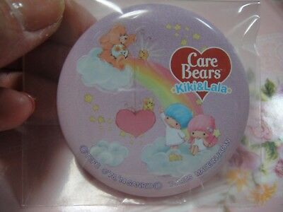 Sanrio Little Twin Stars × Care Bears too cute Can Badge from Japan 3