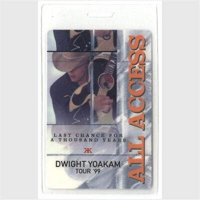 Dwight Yoakam authentic 1999 concert Laminate Backstage Pass thousand years Tour