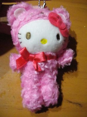 Sanrio Hello Kitty Plush Toy Doll Boots Clip Pink Bear Kitty ver RARE from Japan