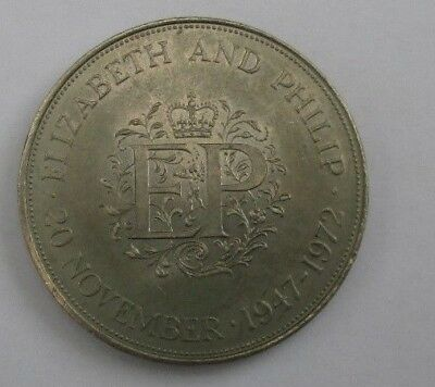 Elizabeth and Philip 20 November 1947-1972 coin