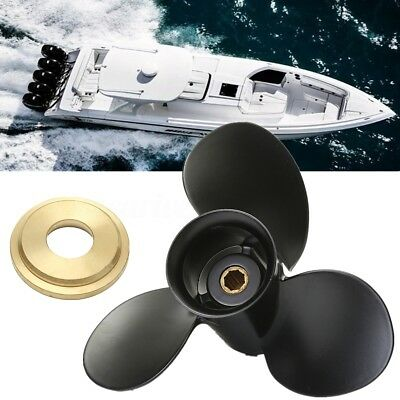 Aluminum 3 Blades Marine Boat Propeller For Mercury Outboard Engine 6-15HP 9x9""