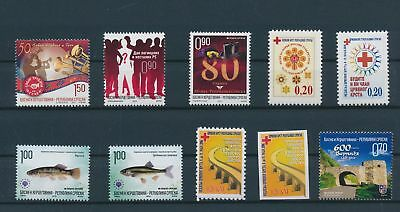 LH23680 Serbia nice lot of good stamps MNH