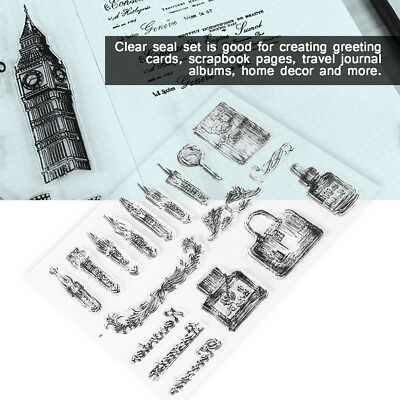 Silicone Clear Rubber Stamps Seal Scrapbook Album Card Making Decor DIY Craft zz