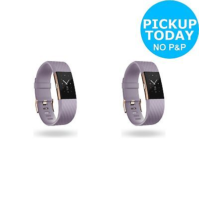 Fitbit Charge 2 HR + Fitness Band Rose Gold - Choice of Size. From Argos on ebay