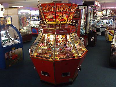 Coin Operated 8 Player Hex 2P Coin Pusher Happy Days