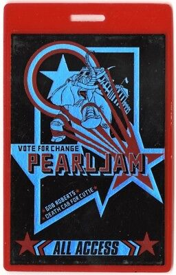 Pearl Jam authentic 2004 concert Laminated Backstage Pass Death Cab for Cutie AA