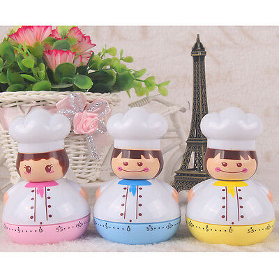 Cartoon Cook Model Timer Mechanical Timer for Kitchen Count Up Down Egg Cooking