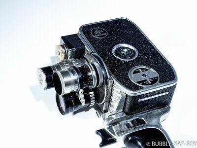Paillard Bolex D8-L 8mm Camera with three lens turrets