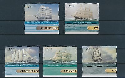 LH24097 Germany edges boats sailing ships fine lot MNH