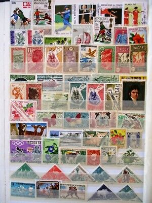 French Africa stamp selection (60)