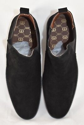 Mens GG By Condemned Nation Suede Resin Chelsea Black Boots RRP £79.99 (.SF13C)