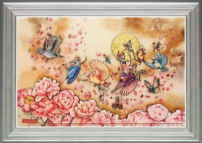Flying Home by Kerry Darlington, Unique Edition, Birds, Fairies, Pixies, Flowers