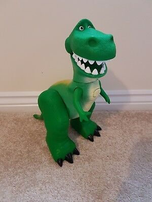 "Disney Pixar Toy Story Large Rex Talking Sounds Dinosaur 17"" Long Action Figure"