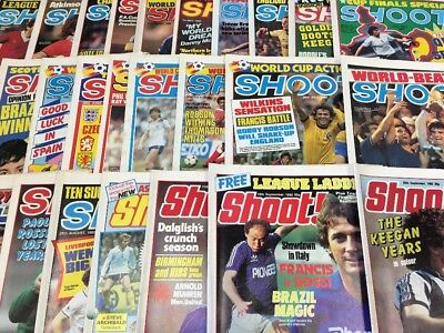 40 Issues Of Shoot! Magazine - Year 1982 - Vgc - Very Good