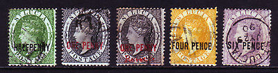 ST LUCIA. SG 25-28, 1/2d to 6d. USED.