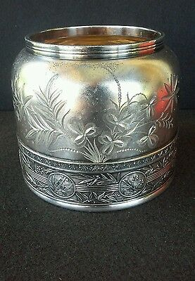 Gorgeous Antique Pairpoint Silver Plate Waste Bowl #306. HUGE AND FAB!