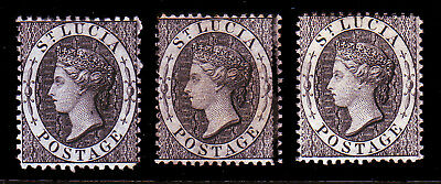 St Lucia. Sg 11 & 15. Mounted Mint.