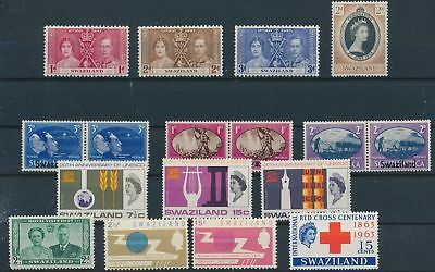 LH24309 Swaziland nice lot of good stamps MNH