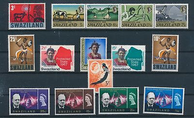 LH24310 Swaziland nice lot of good stamps MNH