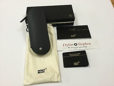 montblanc westside black leather two pen pouch BRAND NEW + all boxes + warranty