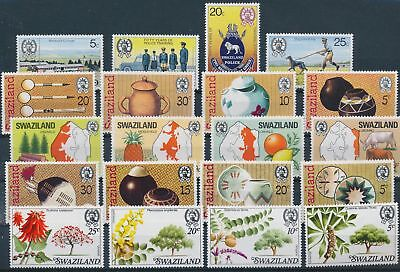 LH24315 Swaziland nice lot of good stamps MNH