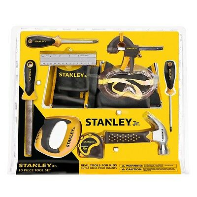Stanley Junior Real tools for Kids 10 Piece Real Tools set -new sealed but Rusty