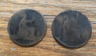 1863 English Pennies- Bidding For 2