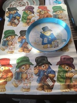 Vintage Padding Bear Tray & Wrapping Paper