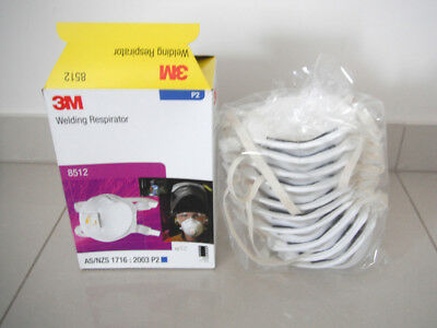 3M Welding Respirator -8512 P2 With Valve 10 Pack Box