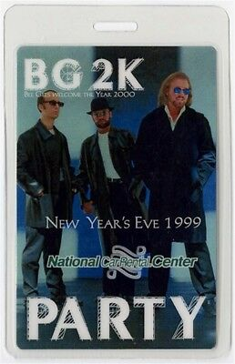Bee Gees authentic 1999 concert Laminated Backstage Pass New Year's Eve Show