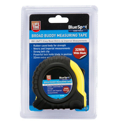 BlueSpot 8m Extra-Wide Blade Tape Measure
