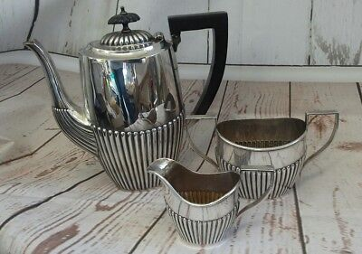 Art Deco EPNS silver plate and bakelite coffee pot, milk and sugar