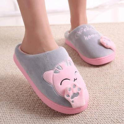 New Cute Cozy Cat Paw Slippers Women Home Slippers Warm Cat Winter Warm Shoes
