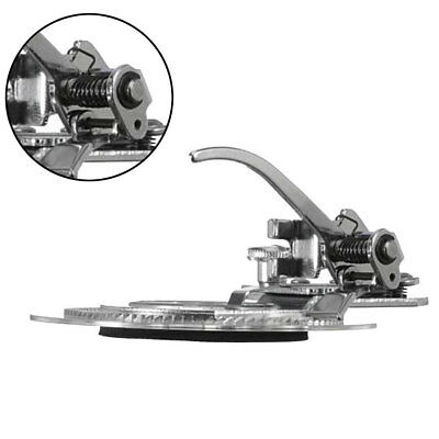 Round Disc Flower Stitch Sewing Machine Presser Foot Snap-On Stitching Tool