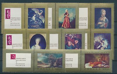 LH24704 Poland art paintings fine lot MNH