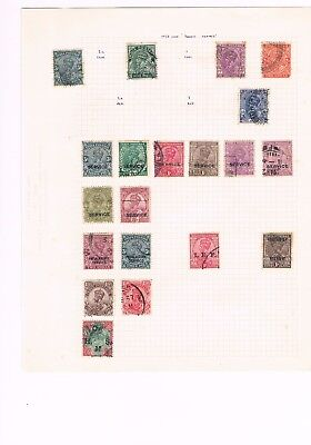 3 Album pages of India stamps