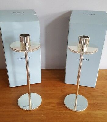 Pair of crystal detailed Wedgwood Ice candlesticks - simply stunning