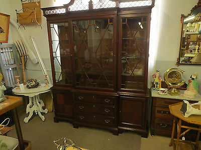 "Lexington"" Palmer Home Collection ""  Chippendale style Breakfront china cabinet"