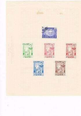 3 Album pages of Burma stamps
