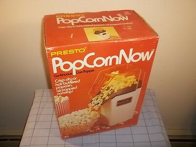 Vtg NEW UNOPENED 1978 PRESTO POPCORN NOW HOT AIR CORN POPPER