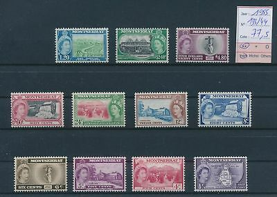 LH26237 Montserrat 1955 local motifs fine lot MNH cv 77,5 EUR