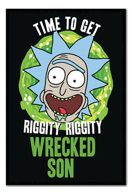 Framed Rick And Morty Time To Get Wasted Son Poster New