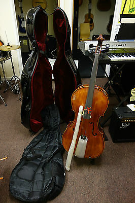 Cecilio Cco-600 Cello Complete With Hard And Soft Cases Plus More